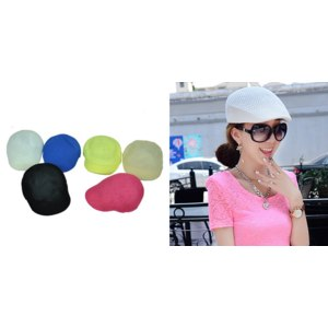 Кепка Aliexpress Authentic Korean male fashion summer hat millinery spot hollow solid candy color cap mesh cap beret Golf Hat фото
