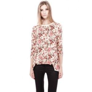 Кофточка AliExpress 2014 new spring fashion women's flower print dress half sleeve mini dress free size NF008 фото
