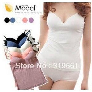 Топ AliExpress Free shipping autumn -summer Modal no steel export plus size bra yoga vest cup belt breast pad ladies top фото