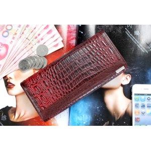 Кошелек Aliexpress Genuine leather women's long design wallet fashion classic crocodile pattern purse female wallet фото