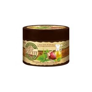 """Маска для волос ECOandVIT """"Восстанавливающая"""" с маслом жожоба и экстрактом крапивы фото"""