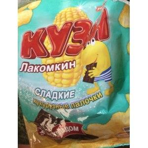 Кукурузные палочки РУССКАРТ Кузя Лакомкин с шоколадом фото