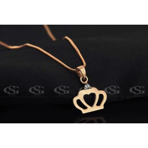 Цепочка с подвеской Aliexpress G&S Classic Permanent 2ct Solitaire Hearts and Arrows CZ Pendant Necklace ,3 round times Rose Gold plated copper CZ Necklace фото