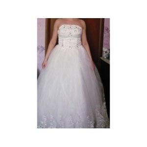 Свадебное платье AliExpress tube top bandage lacing bow wedding dress big laciness princess wedding dress formal dress jingpin фото