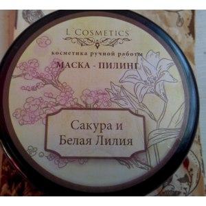 Маска-пилинг L'Cosmetics Сакура и белая лилия фото