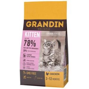 Корм для кошек Grandin Kitten для котят в возрасте до 12 месяцев, беременных и кормящих кошек, с курицей фото