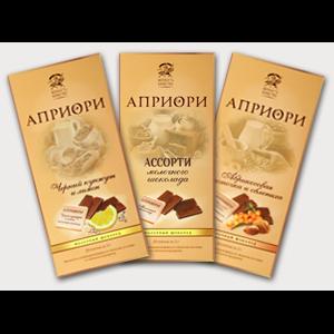 Шоколад Априори Ассорти молочного шоколада фото