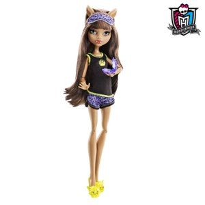 Mattel Monster High Clawdeen Wolf Dead Tired Wave 2 Клодин Вульф Пижамная Вечеринка фото