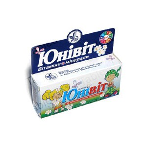 Витамины для детей Киевский витаминный завод Юнивит фото