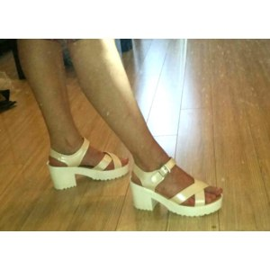 Босоножки Женские Aliexpress 2016 summer genuine leather sandals platform high heels sandals shoes summer women sandals Korean big yards woman's sandal shoes фото
