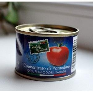 Томатная паста Global Village Concentrato di Pomodoro 100% POMODORI ITALIANI фото