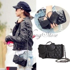 Клатч Ebay Women Lady Butterfly Bow-knot Clutch Chain Handbag Purse Shoulder Bag Wallet NEW фото
