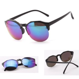 Солнцезащитные очки Ebay Women Retro Round Sunglasses Reflective Glasses Metal Frame Eyeglasses 13 Colors фото