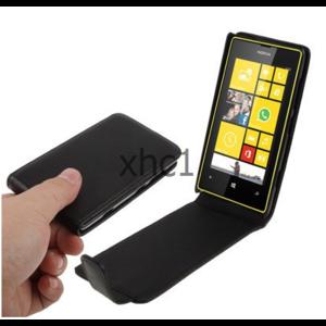 Чехол для мобильного телефона Aliexpress Vertical Flip Up and Down Leather Case for Nokia Lumia 520 Black Support Big Order фото