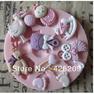 baby shower party fondant molds,silicone mold soap,candle moulds,sugar craft tools,chocolate moulds,bakeware фото