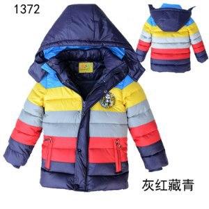 Куртка AliExpress Free Shipping Retail 2014 New winter boy coat striped color boys cotton-padded jacket,Kids winter duck down cotton coat фото