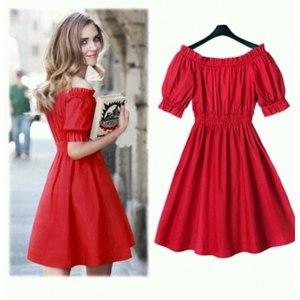 Платье AliExpress 100% cotton The new 2016 Autumn Summer Women Short Sleeve Dress Casual Plus Size Dresses Vestidos WC380-1 фото