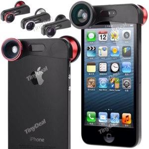 TinyDeal Oбъектив  3в1 для iPhone 5s/5 (Fish Eye/ Macro/ Wide Angle) фото