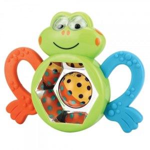 Happy Baby Погремушка Смешной лягушонок фото