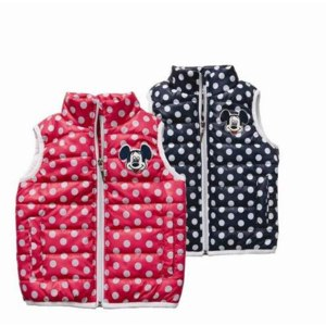 Жилетка AliExpress 3-7 age children antumn/winter vest kids zipper Polka dot print vest vaistcoat for girl фото