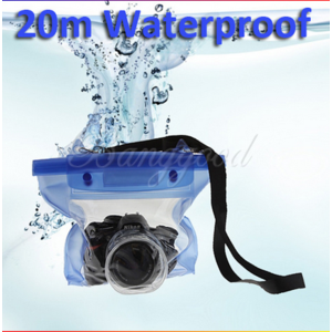 Aliexpress Free Shipping Case Blue Waterproof Digitle DSLR camera underwater floating Pouch Dry Bag for Canon Sony Nikon D7000 etc. фото