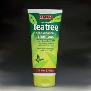 Шампунь Beauty Formulas Tea Tree deep cleansing shampoo с маслом чайного дерева фото