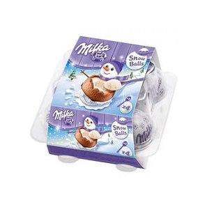 Шоколадное яйцо с сюрпризом Milka SNOWBALLS фото