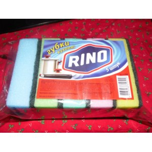 Губки для мытья посуды RINO 5 штук фото