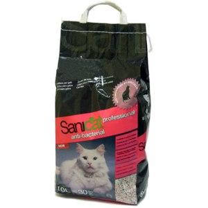 Наполнитель для кошачьего туалета SaniCat   Professional Anti-bacterial впитывающий 10л = 30дней фото