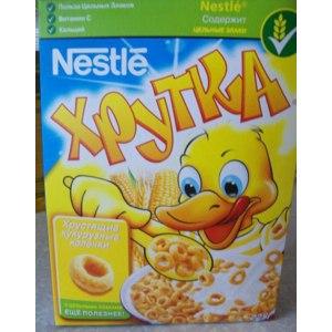 Готовые завтраки Nestle Хрутка Хрустящие кукурузные колечки фото