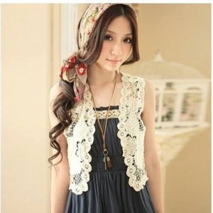Жакет AliExpress Free Shipping Hot sale Summer fashion vest women's shrug Wholesale and retail small honey sweet gift cape vest SW8039 фото