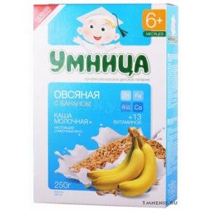 Детское питание Умница Каша молочная овсяная с бананом фото