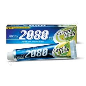Зубная паста AEKYUNG Dental Clinic 2080 GREEN FRESH с витамином Е и экстрактом зеленого чая фото