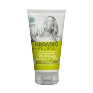 """Крем для тела  Планета Органика """"Organic people"""" сертифицированный натуральный органический Питательный. Органические масла авокадо и оливы фото"""