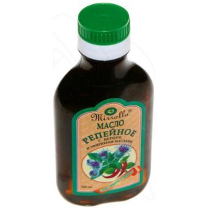 Масло репейное для волос Мирролла с перцем и эфирными маслами фото