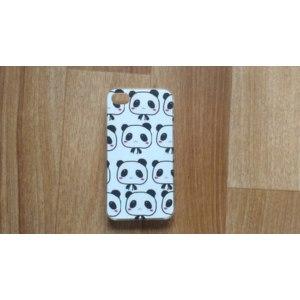 Чехол для мобильного телефона Aliexpress Cats and Pandas Style Transparent PC Pattern Hard Back Phone Cover for iphone 4 4s фото