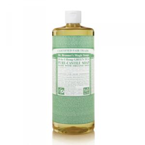 Гель для душа Dr. Bronner's 18 in 1 Hemp Green Tea Pure Castile Liquid Soap фото