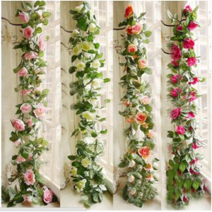 "Гирлянда из роз с Aliexpress ""2.5M Artificial Silk ROSE Fake FLOWER Ivy Leaf Garland Plants Home Wedding Decor"" фото"
