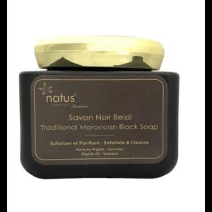Бельди Natus Marrakech Черное мыло с маслом семян черного тмина и вербены VIP 250 мл фото