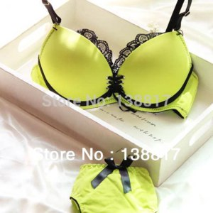 Комплект нижнего белья Aliexpress The 2014 latest popular simple smooth comfortable lingerie suits women lace bra sexy underwear bra sets wholesale free shipping фото