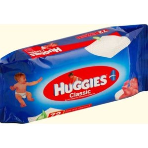 Влажные салфетки Huggies Classic aloe and vitamin E фото