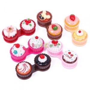 Контейнер для контактных линз Buyincoins Hot Lovely 3D Cartoon Cake Cream Contact Lens Box фото