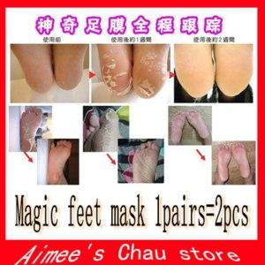 Пилинг для ног Aliexpress 2pcs=1pair moisture Foot Callus peeling renewal remove dead skin Cuticles Heel smooth exfoliating feet mask care sticker фото
