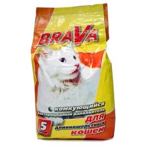 Наполнитель для кошачьего туалета BRAVA Комкующийся бактерицидный наполнитель для длинношерстных кошек фото