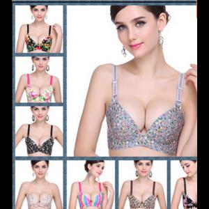 Бесшовный бюстгальтер Aliexpress (Mayflower Pattern)Lady's One-piece Seamless bra adjustable Deep V Sweet smooth bra Cup A,B,C Drop Ship фото