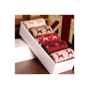 Носки Aliexpress New 2014 Christmas Wool socks women thermal winter rabbit wool socks female thickening towel 100% cotton socks gift sock box фото