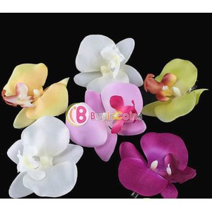 Заколки для волос Buyincoins Архидея 6 PCS New Orchid Flower Fashion Hair Clip Hairpins Bridal Hawaii Party Gir фото