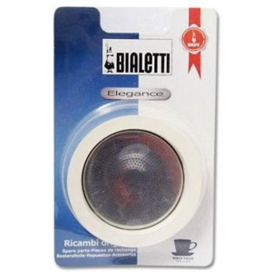 Набор для стальных гейзерных кофеварок Bialetti на 10 порций (уплотнитель 3шт.+сито) арт. 6005/800403 фото