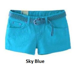 Шорты AliExpress 2014 Spring Summer Fashion New Women Slim Fitted Casual Candy Color Shorts Girl High Elastic Short Pants Hot Pants Drop Shipping фото