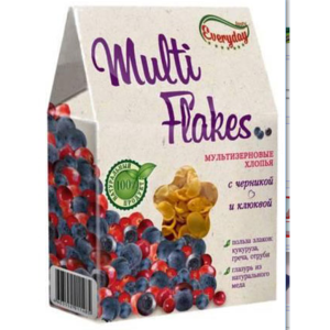 Мюсли Everyday Multi Flakes (мультизерновые хлопья) с черникой и клюквой фото